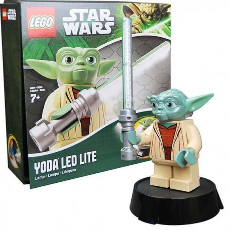 Lámpara Lego Star Wars Yoda sable láser LED lampara