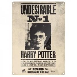 Harry Potter Placa de Chapa Undesirable No. 1 41 x 30 cm