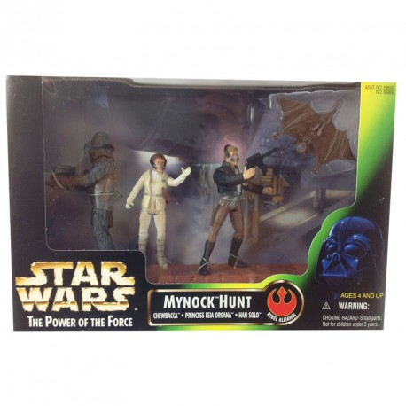 Set tres figuras Power of the Force Bailarinas Jabba el Hutt Rystall Greeata Lyn Me