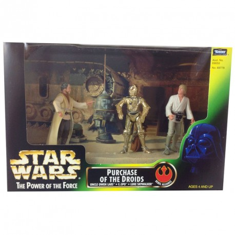 Set tres figuras Power of the Force Darth Vader Skywalker Luke Palpatine Trono Emperador Sala Trono Throne room