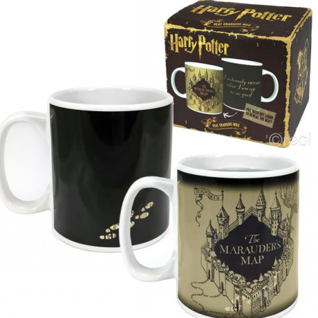Taza Mapa Merodeador Harry Potter cambia con el calor 400 ml Sensitiva Termica