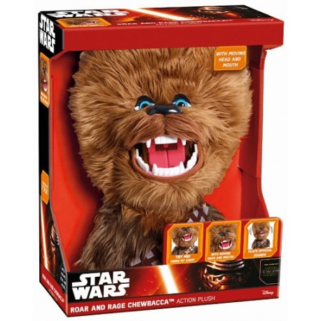 Peluche Chewbacca 60cm con sonido varias poses Star Wars sound plush