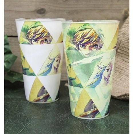 Vaso Link Zelda estilo vidriera Nintendo 50cl