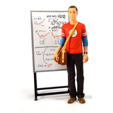 figura SHELDON Cooper con pizarra THE BIG BANG theory 18cm