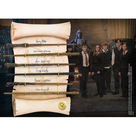 Set de Varitas Campeones Torneo de los Tres Magos Potter Krum Cedric Fleur Noble Collection