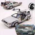 Delorean Coche Regreso II ruedas movibles Hover vuela al Futuro Réplica Back to the future