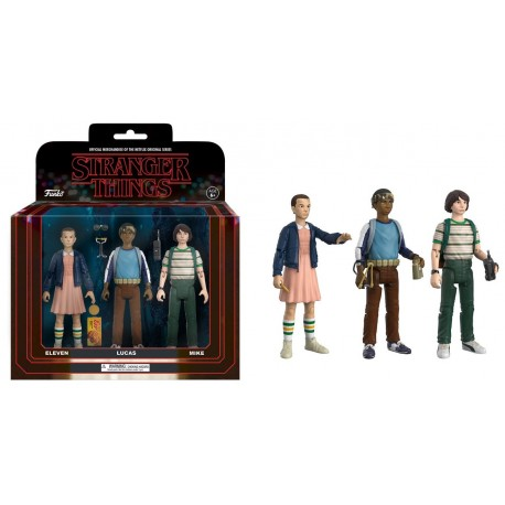 Stranger Things ReAction Pack de 3 Figuras Dustin, Will & Demogorgon 14 cm