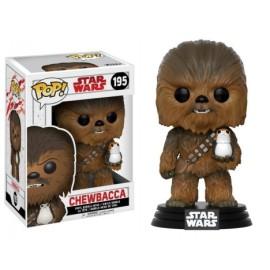 Figura Chewbacca con Porg LAst Jedi Funko Pop Star Wars