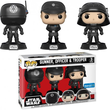 Pack 3 figuras exclusivas Biggs Wedge y Porkins Star Wars Funko Pop