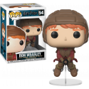 Figura Funko Ron Weasly num 54 quidditch broom escoba Harry Potter 10 cm Pop Vinyl