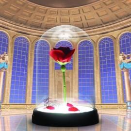Lámpara oficial Rosa Encantada La Bella y La Bestia
