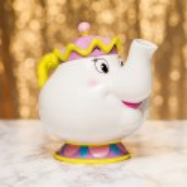 Tetera La Bella y la Bestia diseñ 3d cerámica Tea Pot