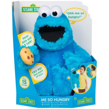 Peluche 45cm Triki Barrio Sésamo Monstruo galletas interactivo cookie monster