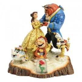 Diorama Ding Dong Lumiere Potts Chip Rosa Bella y la Bestia Jim Shore Disney Traditions