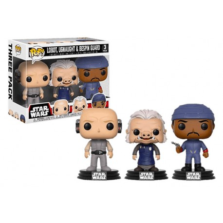 Pack 3 Figura Pop exclusivas Cantina Set with Greedo, Hammerhead and Walrus Man Star Wars Funko Pop vinyl