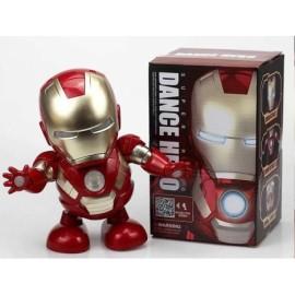 Muñeco inetractivo bailarín luz sonido Iron Man Tony Stark baila Vengadores Avengers
