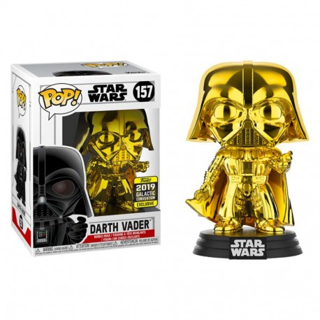 Figura Exclusiva Darth VAder versión Chrome Pop Funko Vinyl cromada