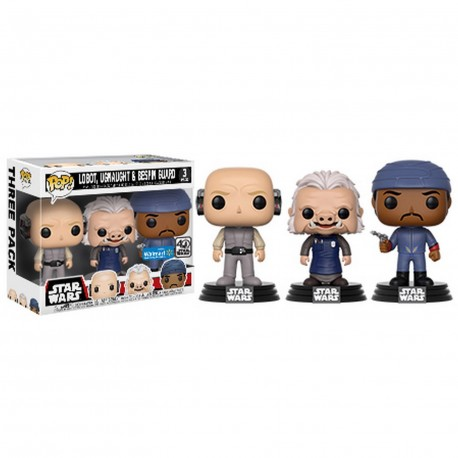pack 3 star wars - lobot, ugnaught bespin guard Funko pop