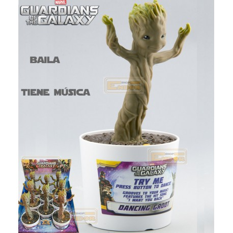 Figura Dancing Baby Groot electrónica 24 cn música y sonido want you back