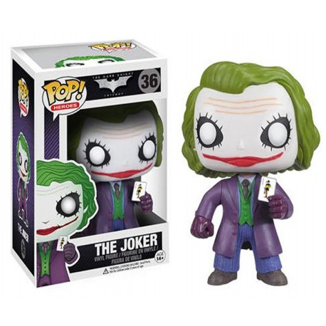 Figura Pop Vinyl Joker num 36 Batman The Dark Knight Heather Ledger Funko