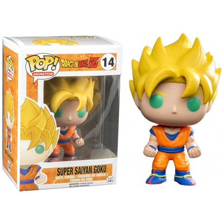 Figura Super Saiyan Goku num 014 Pop Dragon ball zPop Vinyk Funko