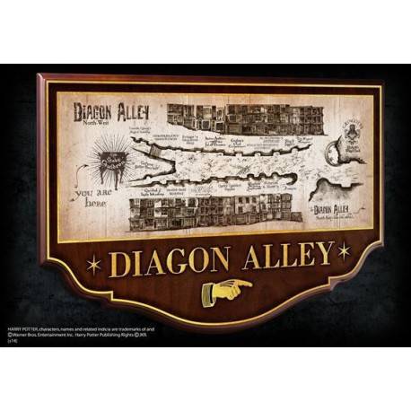 Harry Potter Escudo Diagon Alley 43 x 28 cm Callejón Diagon