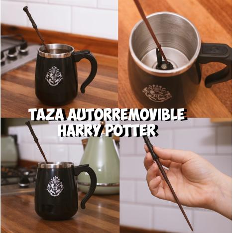 Taza Harry Potter autorremovible Caldero CAuldron con botón