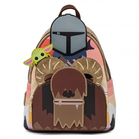 Mochila Child Baby Yoda cuna Mandalorian LoungeFly