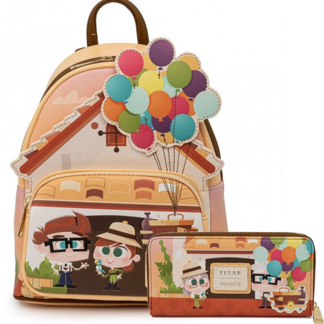 Pack Mochila y cartera Up Pixar Carl Ellie Working Buddies Loungefly