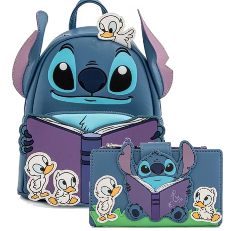 Mochila Time Duckies Backpack Stitch Lilo Loungefly
