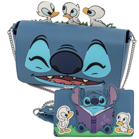 Pack Mochila y cartera Time Duckies Backpack Stitch Lilo Loungefly