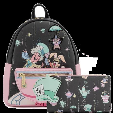Mochila Alicia Pais Maravillas Sombrerero Loungefly backpack merry unbirthday
