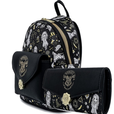 Pack Harry Potter Bolso y cartera Hogwarts Magical elements Loungefly