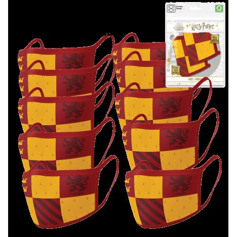 Pack de 2 mascarillas textiles premium oficiales Slytherin Harry Potter