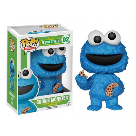 Figura Triki Funko Pop Vinyl Cookie Monster BArrio Sesamo triqui 10 cm