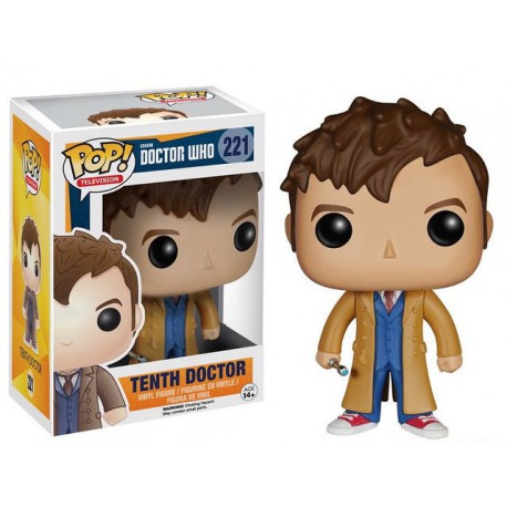 Figura Dr Who Pop Vinyl 10th num 221 tenth doctor Funko