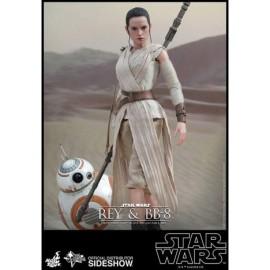 Pack de 2 Figuras Movie Masterpiece 1/6 Rey & BB-8 Hot Toys Star Wars EP VII