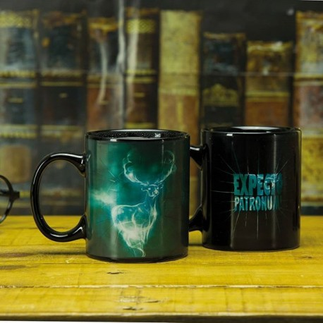Taza Expecto Patronum térmica cambia con el calor sensitiva heat changing mug Harry Potter térmica