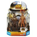 Pack dos figuras Wookies Wulfarro Warrior Hasbro star wars 3,75 ""