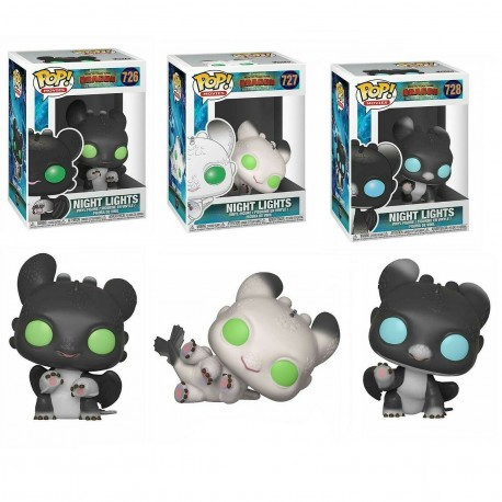 Night Lights ojos verdes Como entrenar a tu dragón funko Pop Vinyl