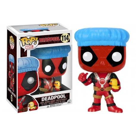 Deadpool Grey suit con chimichanga gris Funko Edición Especial Pop