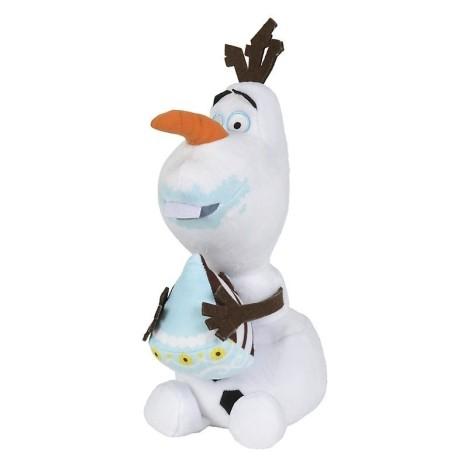 Peluche Olaf con gorro 35cm Frozen