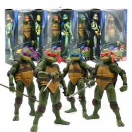 Pack 4 tortugas Ninja Neca 18cm en caja