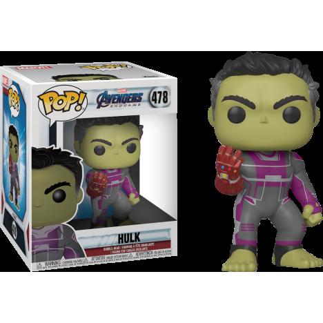 "Hulk con nano guantelete 6"" Endgame Funko Pop Vengadores Avengers"