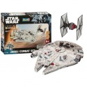Star Wars Episode VII Maqueta EasyKit Set Halcón Milenario y Tie Fighter