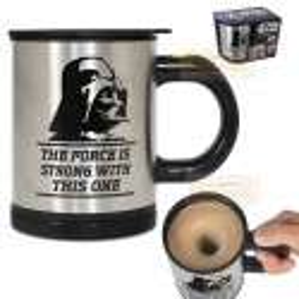 TAZA auto removible Star Wars Darth Vader Feel the Force auto stirring mug autorremovible