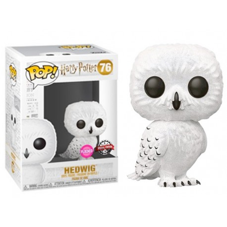 Flocked Hedwig lechuza Funko Pop Harry Potter