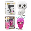 Pack Flocked Hedwig y Fwooper lechuza Funko Pop Harry Potter