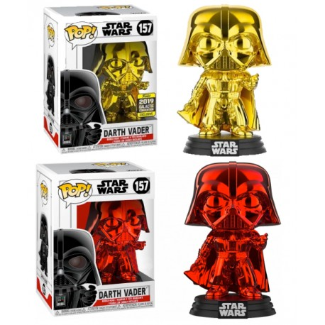 DArth Vader Chrome Funko Pop Exclusiva rojo red