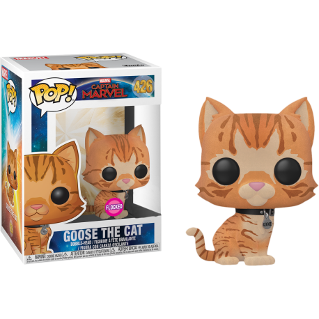 Goose The Cat chase Capitana Marvel Funko pop gato Captain